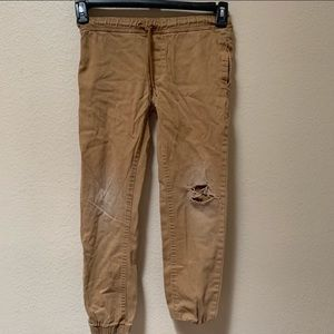 U.s polo assn. brown distressed flex jeans